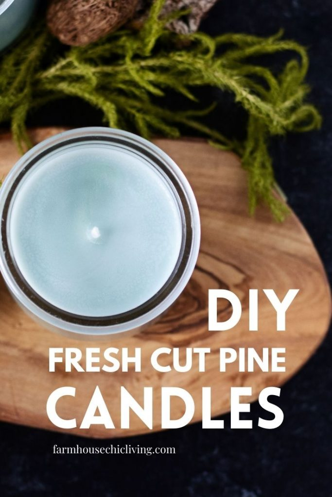 Anyone can make these farm-fresh pine candles with this step by step candle making tutorial.