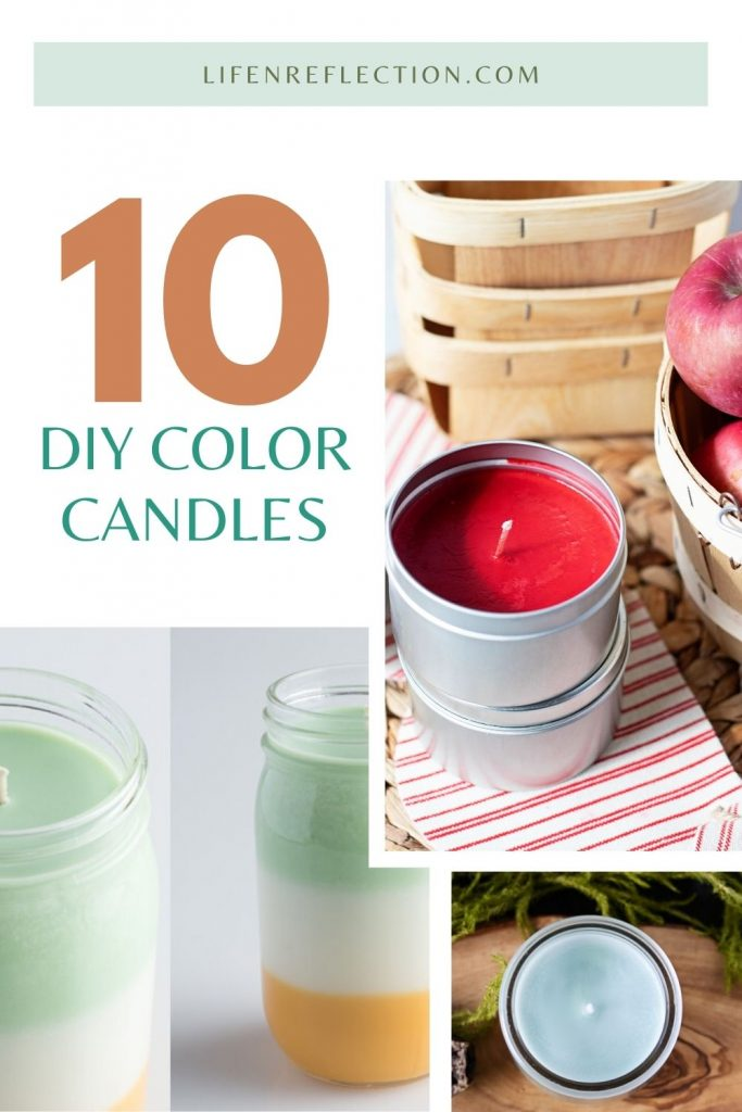 Making your own candle is fun and fairly simple with these 10 creative DIY color candles!