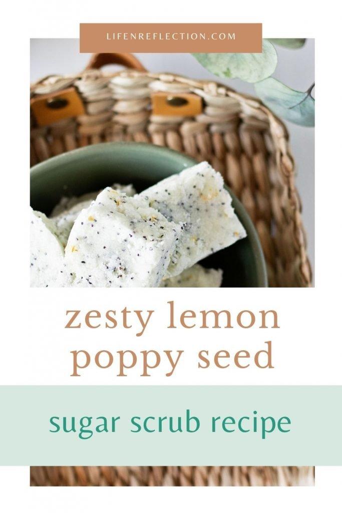 Zesty lemon poppy seed sugar scrub recipe you've got to make!