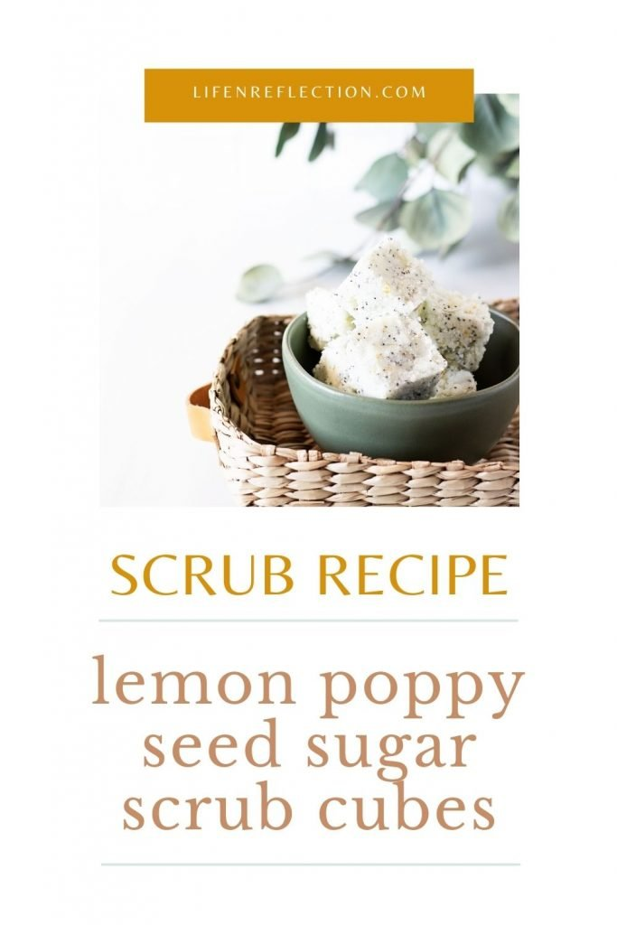 These lemon poppy seed DIY sugar scrub cubes will help you achieve a natural glow without ever laying poolside. Made with one of the best essential oils for sugar scrub recipes.