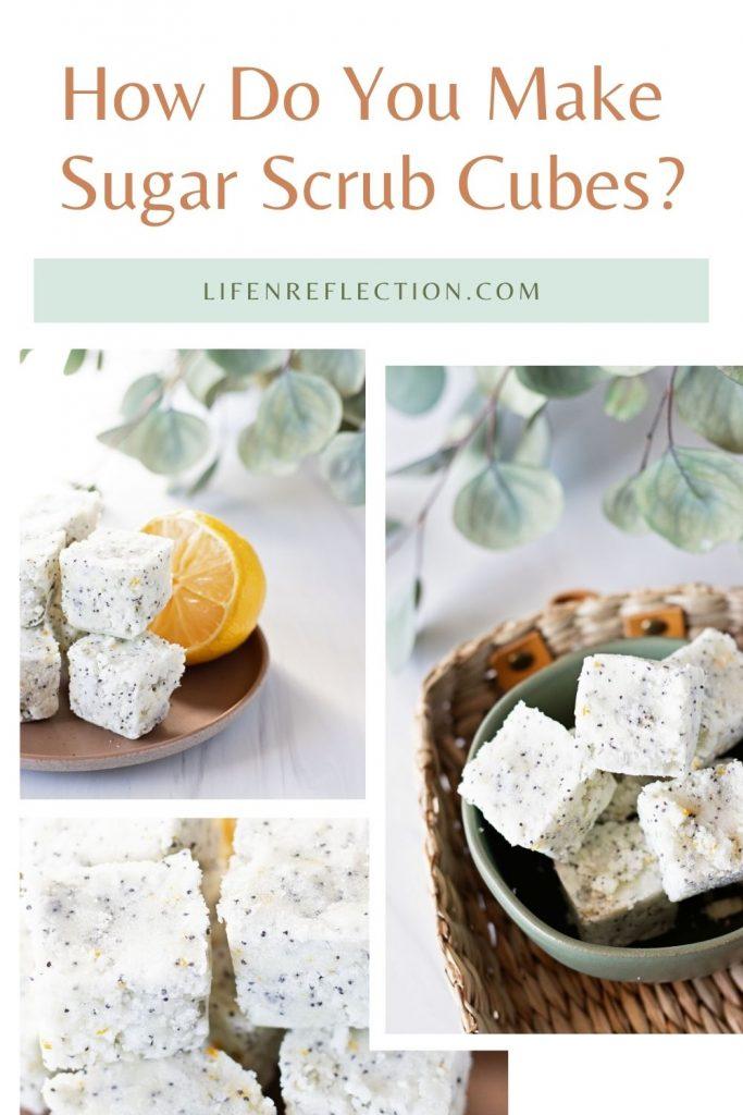 How do you make DIY sugar scrub cubes at home?