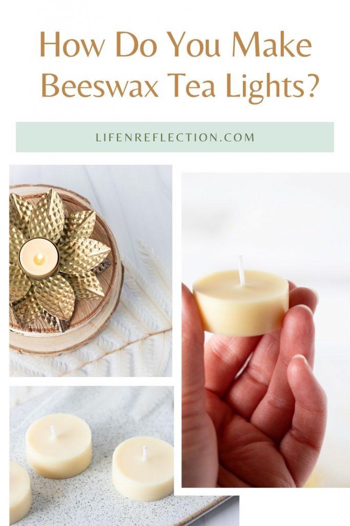 How do you make tea light candles at home?