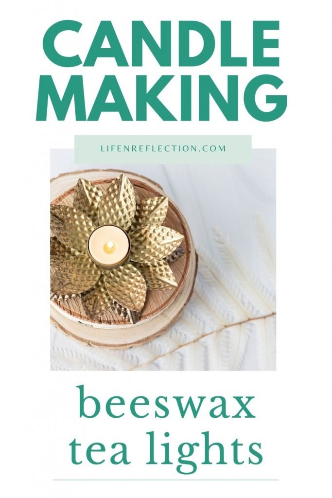 With a smokeless burn, a soft texture that burns more evenly, and a noticeable longer burn time beeswax is preferred by many for candle making. All of which is appreciated in these homemade beeswax tea light candles.