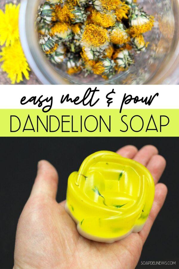 Dandelion soap recipe for beginners!
