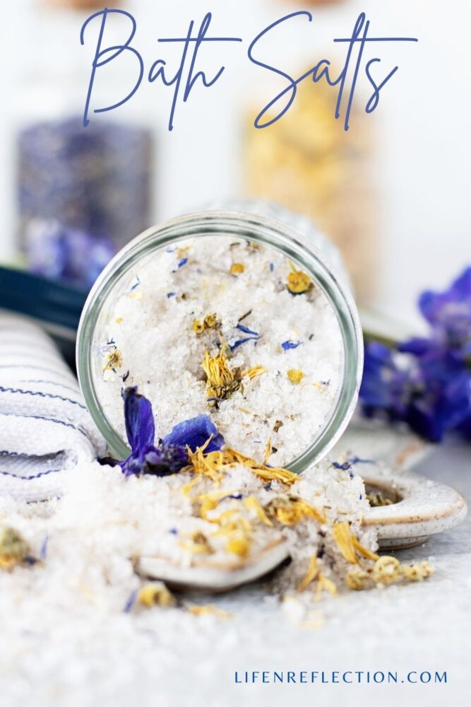 Just a scoop of these floral bath salts into the bath will have flowers floating on the top of the water and brushing against your skin.