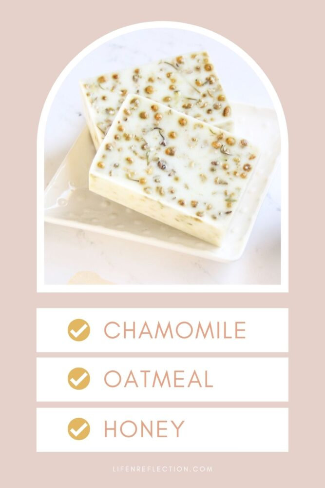 A blend of oatmeal, chamomile, honey, and goat milk poured into soap bars will leave even the driest skin feeling calm and moisturized. It may sound complicated, but it's really a simple melt and pour soap recipe that can made in minutes!