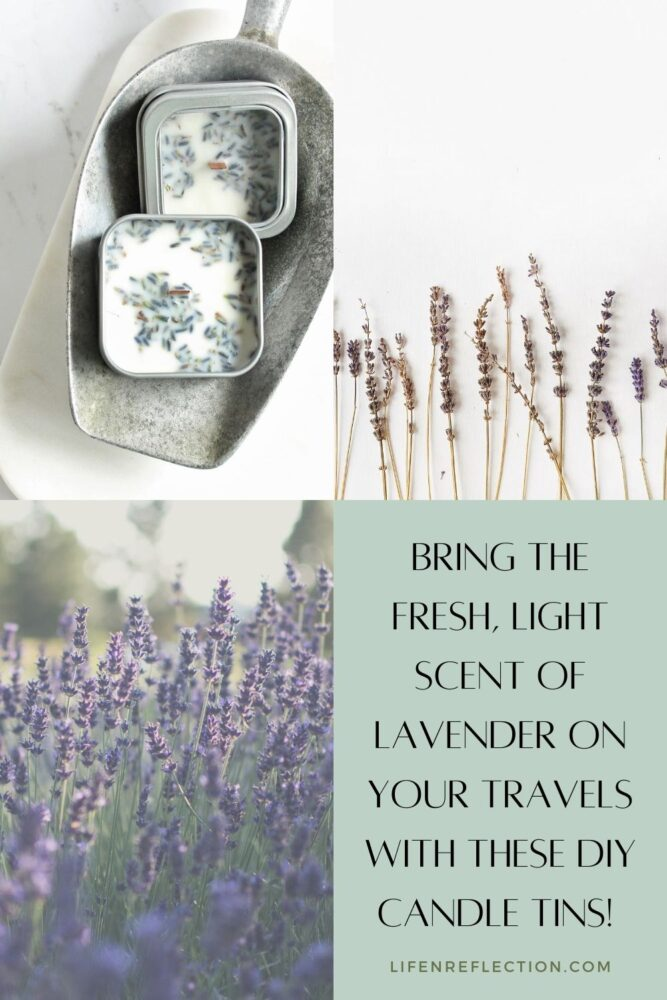 Bring the fresh, light scent of lavender on your travels with these DIY travel candle tins!