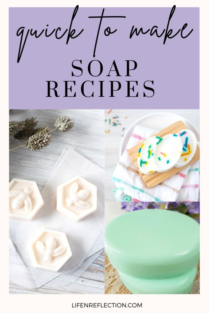 Why are Melt and Pour Soap Recipes Quicker?