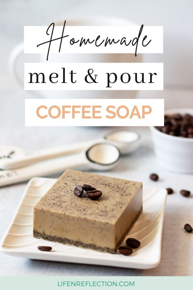 Homemade melt and pour coffee soap in mintues!